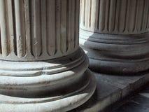 Greccy odrodzenie kamienia filary, St Paul ` s katedra, Londyn, UK obrazy stock