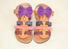 Greccy sandały dla dzieciaków Fotografia Royalty Free