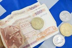 Greccy starzy waluty drachmy banknoty na grku zaznaczają Zdjęcie Stock