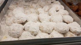 Greccy tranditional xmas cukierków melomakarona kourampiedes obraz stock
