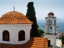 greccy wyspy portu skiathos Obrazy Royalty Free