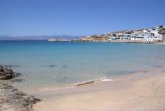 Grece, la isla de Donoussa Playa y el pueblo de Stavros imágenes de archivo libres de regalías