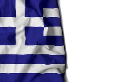 grece wrinkled flag, space for text Royalty Free Stock Images
