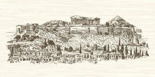 Grecia, Atenas, acrópolis Stock de ilustración