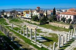 GRECIA, ATENAS - 25 DE MARZO DE 2017: Roman Agora imagen de archivo libre de regalías
