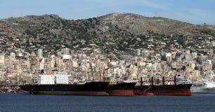 Grecia, buques de carga Fotos de archivo