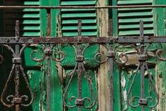 Grecia, cerca oxidada vieja del metal Fotografía de archivo