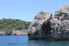 Grecia, Corfú, Paleokastritsa Fotografía de archivo libre de regalías