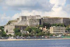 Grecia, Corfú, vistas de Corfú y la nueva fortaleza Fotos de archivo