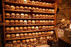 Grecia, cráneos de los monjes fotografía de archivo libre de regalías
