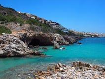 Grecia, Creta - costa mediterránea Imágenes de archivo libres de regalías