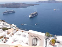 Grecia, Creta, Santorini imagenes de archivo