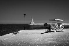 Grecia crete Paisaje blanco y negro fotos de archivo libres de regalías