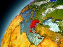 Grecia de la órbita de Earth modelo Imagenes de archivo
