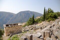 Grecia. Delphi. Hacienda ateniense en Archaeologica Foto de archivo