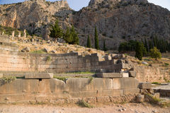 Grecia. Delphi. Ruinas Foto de archivo
