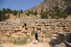 Grecia. Delphi. Ruinas Fotografía de archivo