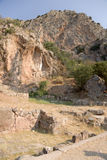 Grecia. Delphi. Ruinas antiguas Fotos de archivo libres de regalías
