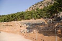 Grecia. Delphi. Ruinas antiguas Imagen de archivo libre de regalías