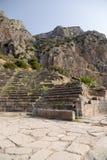 Grecia. Delphi. Teatro Fotos de archivo libres de regalías