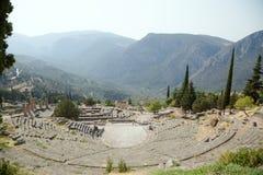 Grecia. Delphi. Teatro Fotografía de archivo libre de regalías