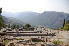Grecia. Delphi. Templo de Apolo Imagenes de archivo