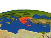 Grecia en rojo de la órbita libre illustration