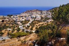 Grecia hermosa, isla maravillosa y mar Fotografía de archivo