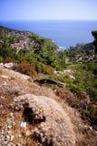 Grecia hermosa, isla maravillosa y mar Foto de archivo libre de regalías