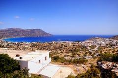 Grecia hermosa, isla maravillosa y mar Imágenes de archivo libres de regalías