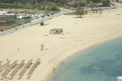 Grecia, IOS, la playa en Mylopotus imagen de archivo