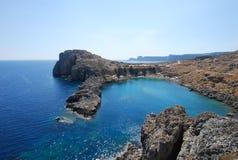Grecia. Isla de Rodas. La bahía de San Pablo. Foto de archivo libre de regalías