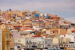 Grecia Isla de Syros Ermoupolis Fotografía de archivo libre de regalías