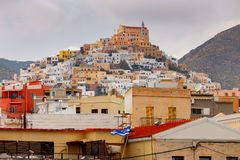 Grecia Isla de Syros Ermoupolis Imagen de archivo libre de regalías