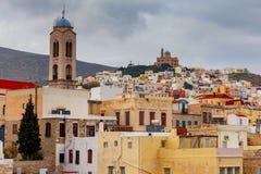 Grecia Isla de Syros Ermoupolis Imágenes de archivo libres de regalías