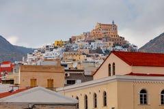 Grecia Isla de Syros Ermoupolis Fotografía de archivo