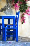 Grecia, isla de Syros, taberna Foto de archivo libre de regalías