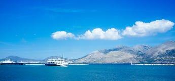 Grecia-Kefalonia Lixouri Port3 fotografía de archivo libre de regalías