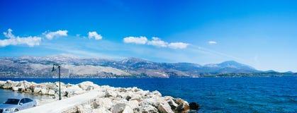 Grecia-Kefalonia Lixouri Port2 imágenes de archivo libres de regalías