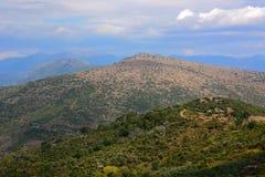 Grecia, montañas, Peloponeso fotos de archivo libres de regalías