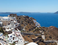 Grecia, opiniones de Santorini Imagen de archivo libre de regalías