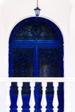 Grecia, puerta arqueada con los ornamentos Foto de archivo libre de regalías