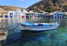 Grecia que sorprende - isla ilustrada Foto de archivo libre de regalías