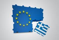 Grecia quitó de la unión europea ilustración del vector