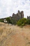 Grecia. Rocas de Kalambaka y de Meteora Fotografía de archivo libre de regalías
