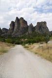 Grecia. Rocas de Meteora Imagenes de archivo