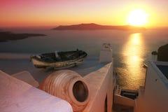 Grecia, Santorini imagen de archivo