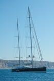 Grecia, Santorini, barco Fotografía de archivo