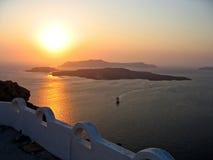 Grecia Santorini panorámico Imagen de archivo libre de regalías