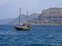 Grecia Santorini panorámico Fotos de archivo
